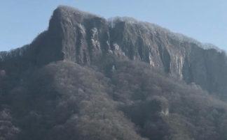 荒船山 昇天の氷柱 アイスクライミング